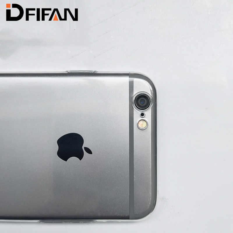 ل iPhone X XS ماكس XR حافظة رونيكان سليم واضح لينة غطاء من البولي يوريثان الحراري دعم الشحن اللاسلكي ل أبل 6 6s 7 8 Plus واضح