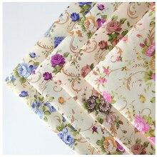 cheap peach skin fabric floral Polyester fabric Curtain for home textile thin tissue W38
