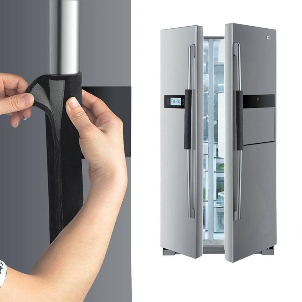 Refrigerator Door Handle Cover Kitchen Appliance Decor Handles Antiskid Protector Gloves Fridge Oven Keep Off Fingerprints #LR2