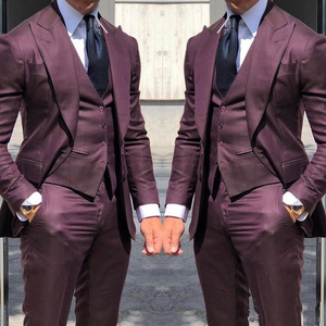 2020 Newest Wedding Tuxedos Fashionable Suits For Men 3Piece Wedding Groom Tuxedos Custom Made Business Suit(Jacket+Pants+Vest)