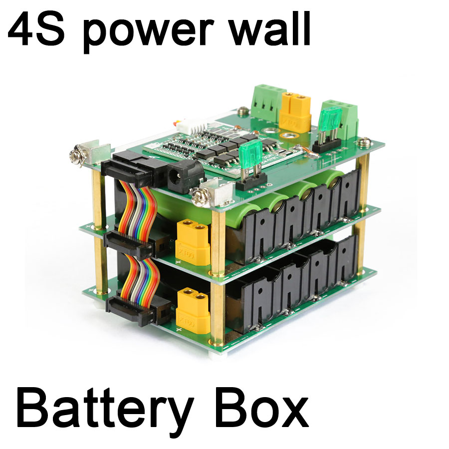 DYKB 4s 16V <font><b>18650</b></font> power wall 4S battery pack <font><b>Box</b></font> <font><b>4</b></font> CELL battery BMS Li-ion Lithium PCB board 30A 60A 90A Protection board image