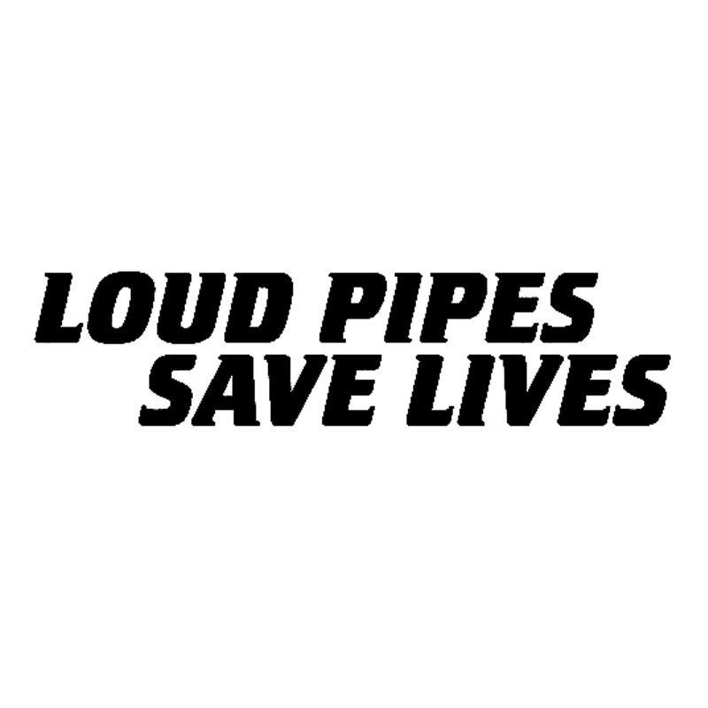 18x4.3CM LOUD PIPES SAVE LIVES Decal Vinyl Sticker Black White for <font><b>Mercedes</b></font> <font><b>Benz</b></font> AMG <font><b>W201</b></font> W203 W204 W205 W211 W212 W213 CLS CLK image