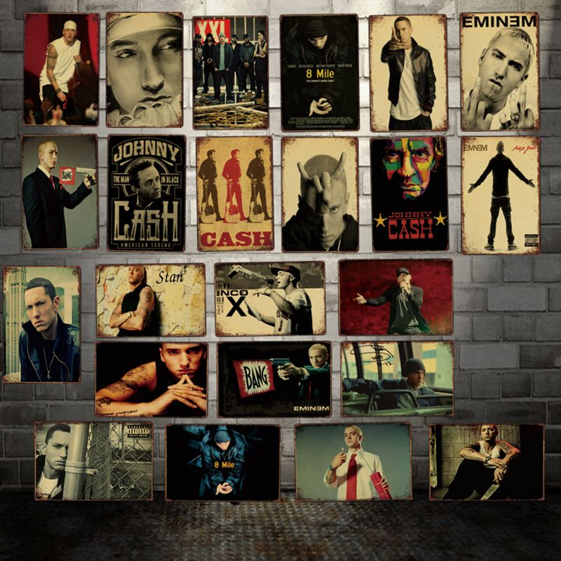 [ WellCraft ] Rap Music Star Metal Plaque Wall Tin SignsPosters art Vintage Painting Personality Custom Decor LT-1787
