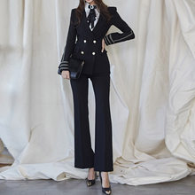 OL Work Office Lady Dress Suits 2 Two Piece Sets Elegant Women Blazer Jacket + Trousers Femme Workwear Pant Suits 2020 Korea(China)