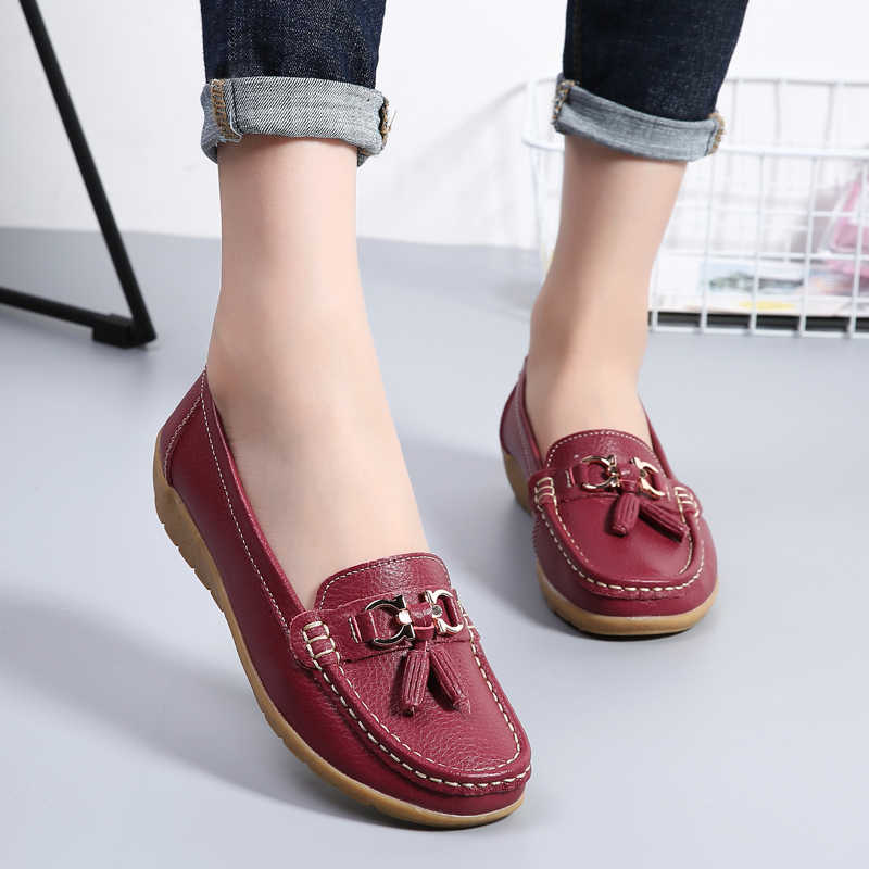 Women's Loafers Casual Shoes Genuine