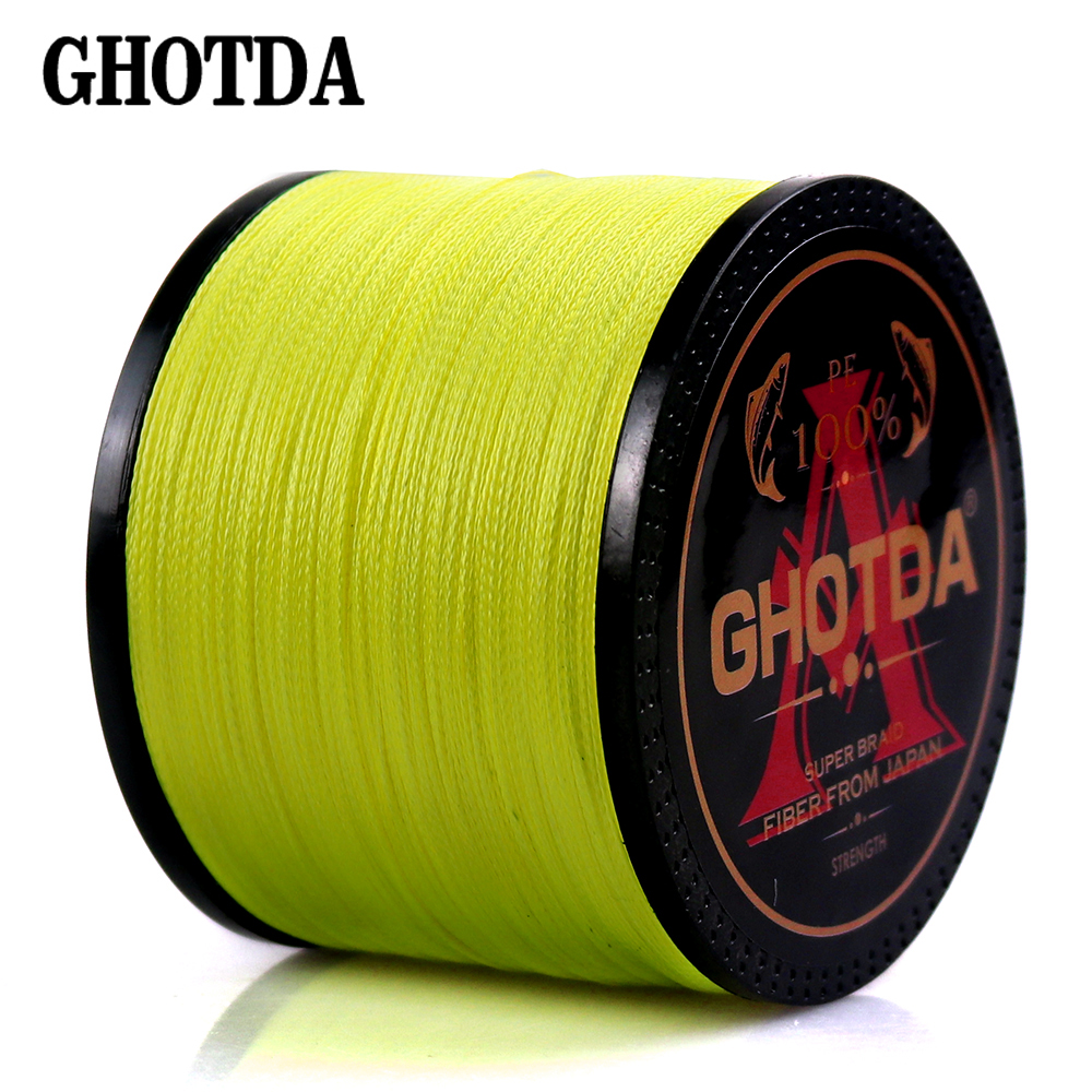 4 Braid Braided Fishing Line 300 500 1000M Super Strong Multifilament Fishing Lines 4 Strand Peach Essays Rope 10LB-80LB