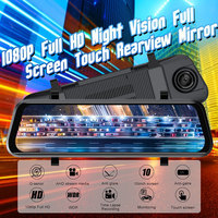 1080P Auto DVR 10 Inch Dash Camera Touch Screen Recorder Camera Dual Lens Auto Video Recorder Photography Parking Monitoring