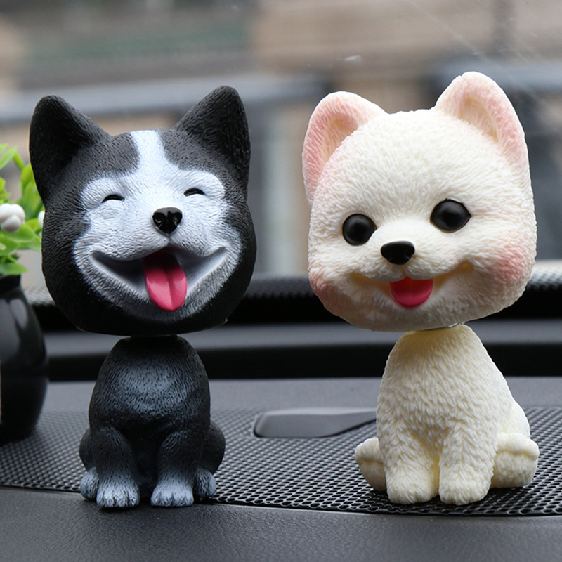 Car Dashboard Bobble Head Rabbit Figurine Shaking Head Toys for Kids Room