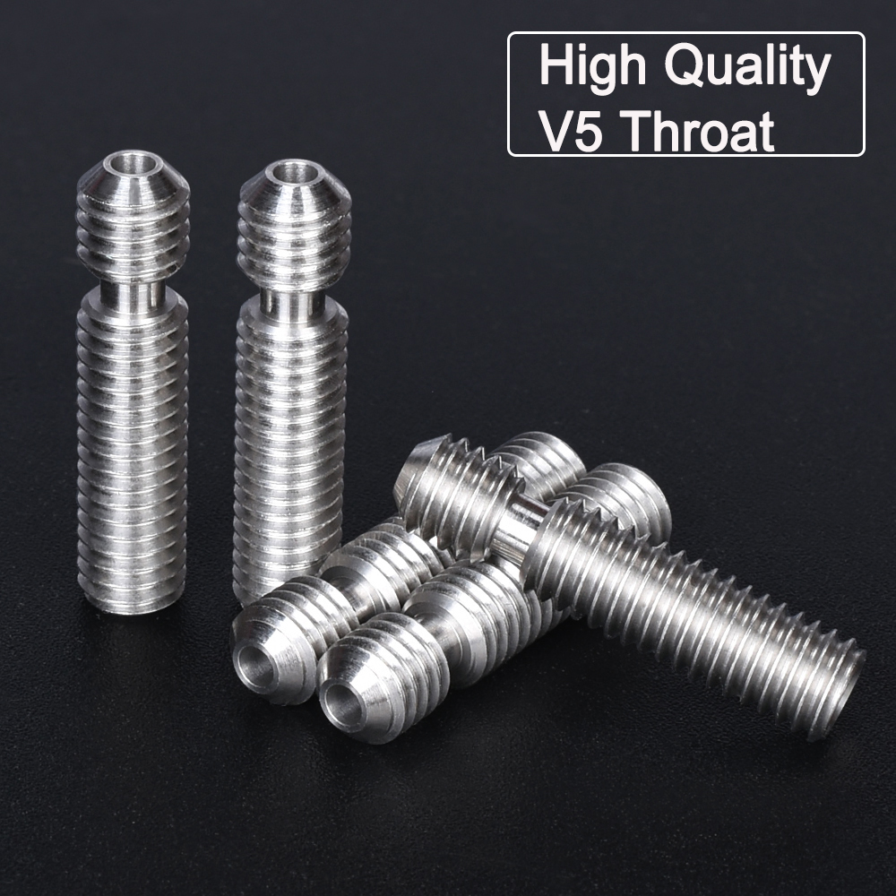 High Quality V5 Throat 3D Printer Throat V5 Heatbreak All Metal Feed MK8 Nozzle To Hotend Extruder Filament For 3D Printer Parts
