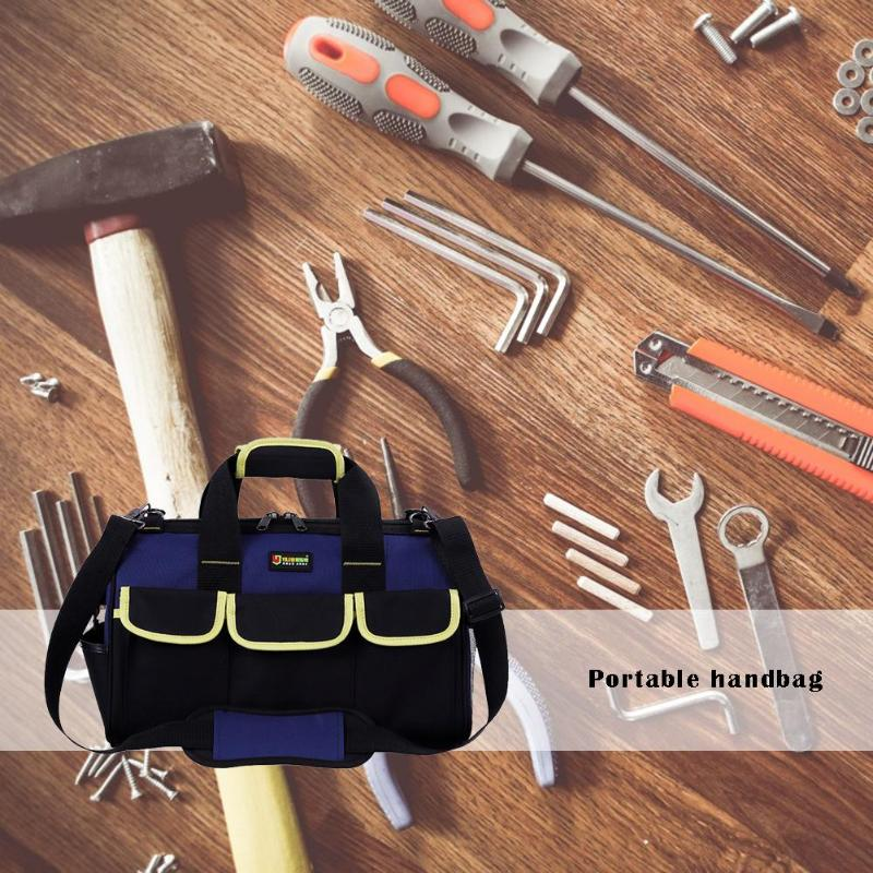 Multi-function Shoulder Hand Bag Hammers Pliers Storage Tool Bag Waterproof Oxford Cloth For Electrician 37x22x21cm