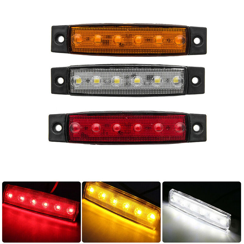 Car Clearance Lights LED 12/24V 6 SMD LED Car Bus Truck Lorry Side Turn Signal Marker Indicator LED Trailer Light Rear Side Lamp