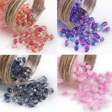 Glass-Bead Crystal Jewelry Making Lampwork Bracelet Hairpin Water-Drop for Diy 40pcs