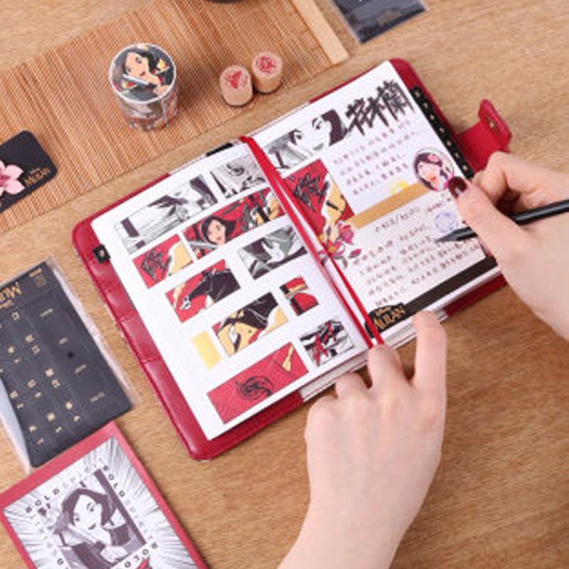 kinbor Series Mulan Planner Stationery Gift Box 2020 Handbook 1 Set Notebook Schedule Planner a6 Notepad
