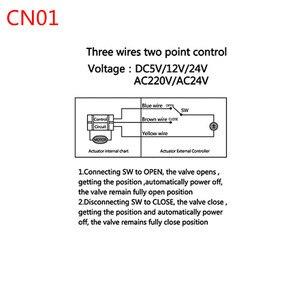 Image 4 - AC220V /24 فولت DC12V/24 فولت 2 طريقة النحاس صمام كروي مزود بمحرك الكرة الكهربائية صمام المحرك الكهربائي DN15 DN20 DN25 DN32 DN40