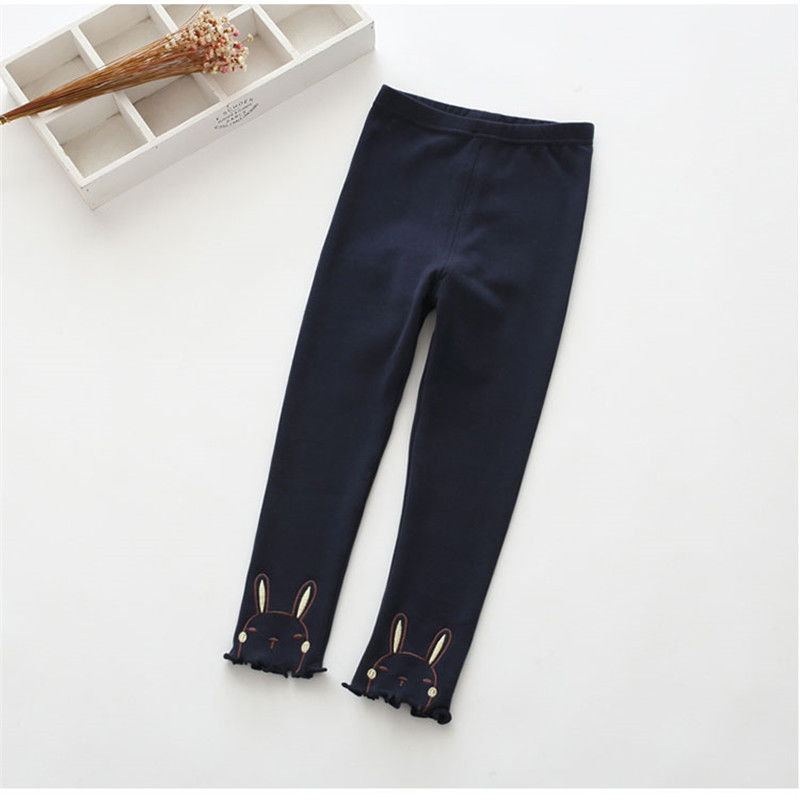 Vidmid Winter Girls Sport Leggings For Kids Cotton Solid Soft Elastic Trousers  3-10 Years Children Striped Skinny Pants P254 2