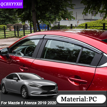 For Mazda 6 Atenza 2019 2020 Car Styling 4pcs Car Awnings Shelters Window Visors Sun Rain Shield Stickers Cover Auto Accessories