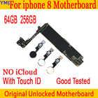 64 Гб 256 ГБ 100% оригинал для IPhone 8 материнская плата с/без Touch ID разблокированная материнская плата для iphone 8 IOS системная логическая плата