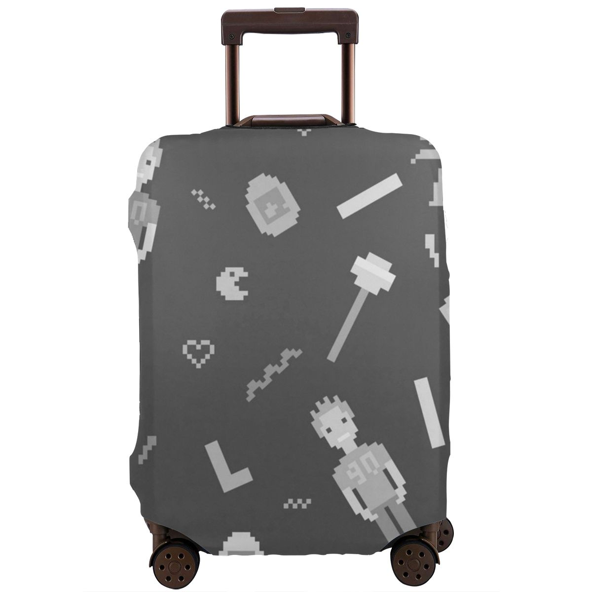NOISYDESIGNS Custom Pacman Retro Game Travel Trolley Luggage Protective Covers Suitcase Protection Case Luggage Cover