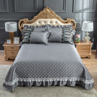 100%Cotton Quilted Bedspread with Pillow shams Overside 98x106 Bed Cover All Season Premium Cotton Bedding set Queen King size
