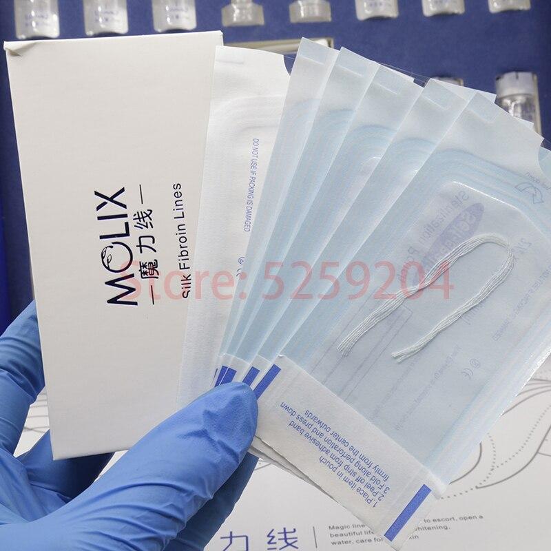 Radar Thread No Needle Silk Fibroin Line Carving Essence Collagen Facial Thread Lift Anti Aging Hyaluronic Tightening Skin Care