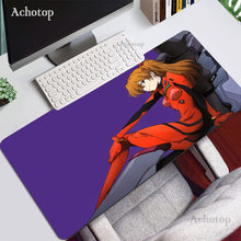 Evangelion Mouse Pad Large Natural Rubber PC Computer Gaming Accessories Anti-slip Mousepad Desk Mat Locking Edge For CSGO DOTA