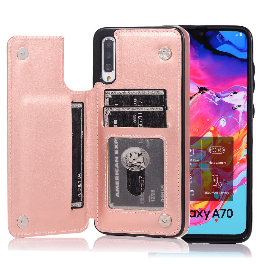 Card Holder Case <font><b>for</b></font> <font><b>Samsung</b></font> <font><b>Galaxy</b></font> A71 A51 <font><b>A70</b></font> <font><b>A50</b></font> A40 A30 A20 A10 <font><b>Shockproof</b></font> Stand Flip Magnetic Wallet Leather Cover Capa image