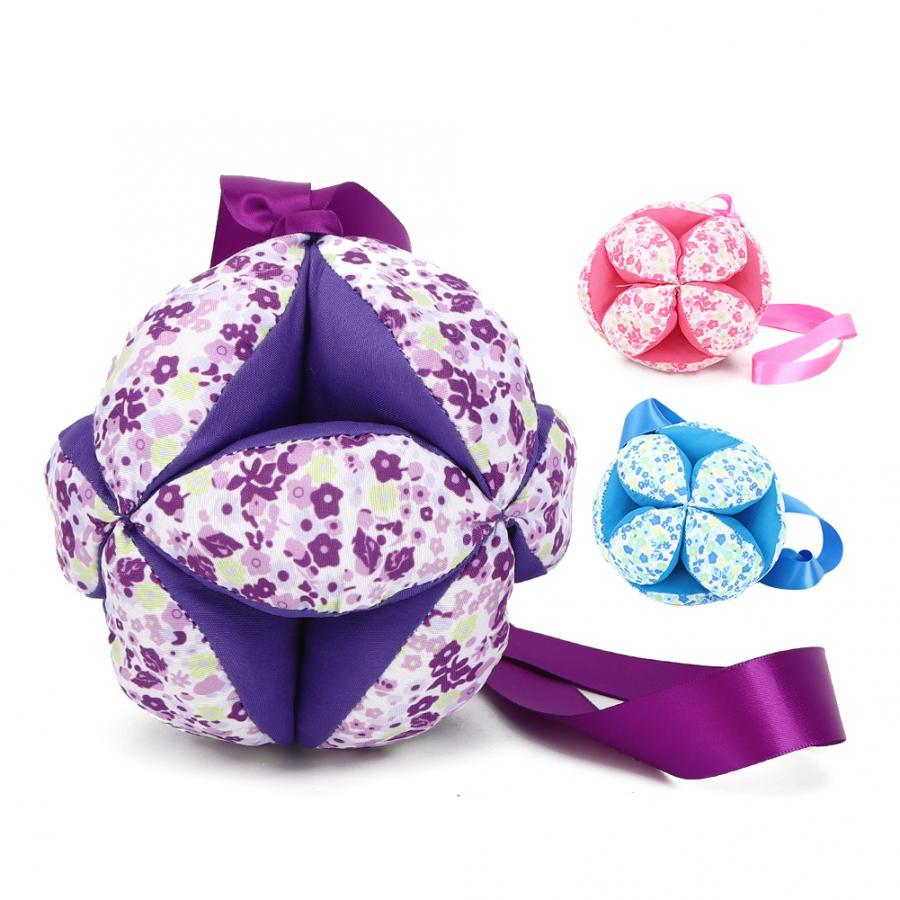Детский ручной тканевый мячик, игрушки для младенцев, Цветные погремушки, мячик, игрушка с лентой, погремушка