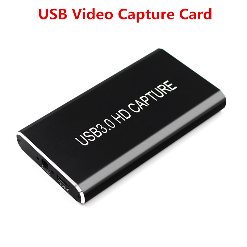 USB Video Capture Card Grabber HD To Type-C/USB C/USB 3.0 1080P Game Adapter With HDMI Loop Output For Windows/Linux/Mac