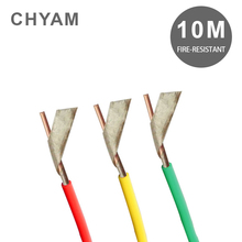 chnt wire and cable two core parallel lines white copper wire bvvb 2 2 5 square jacket line 10 meters 10 Meters Fire-resistant Wire Household Insulation 4mm2 / 6 / 10 Square Copper Core Cable NHBV For Home Decoration