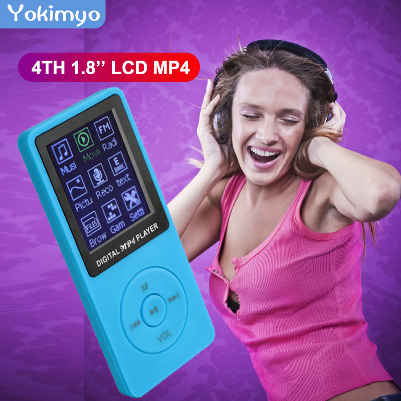 Стильный портативный MP4-плеер с ЖК-дисплеем 1,8 дюйма для Ipod, музыкальный видео медиаплеер, Fm-радио, портативный цветной mp3-плеер, музыкальное ...