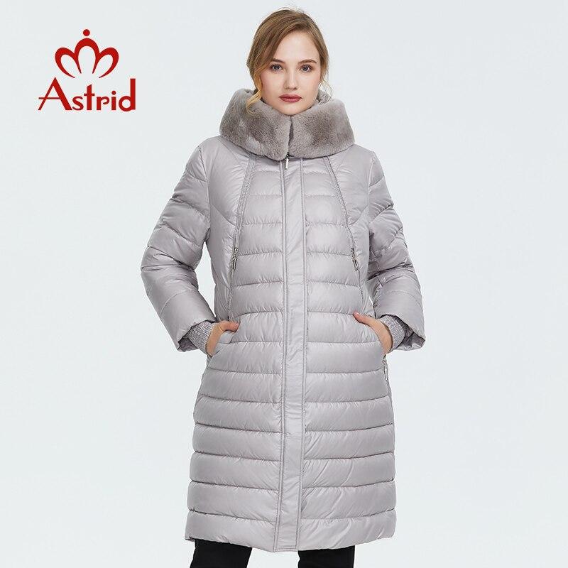 Astrid 2019 Зима новое поступление вниз куртка женская верхняя одежда высокого качества толстый хлопок моный стиль длинное женское зимнее пальто FR 2049|Парки|   | АлиЭкспресс