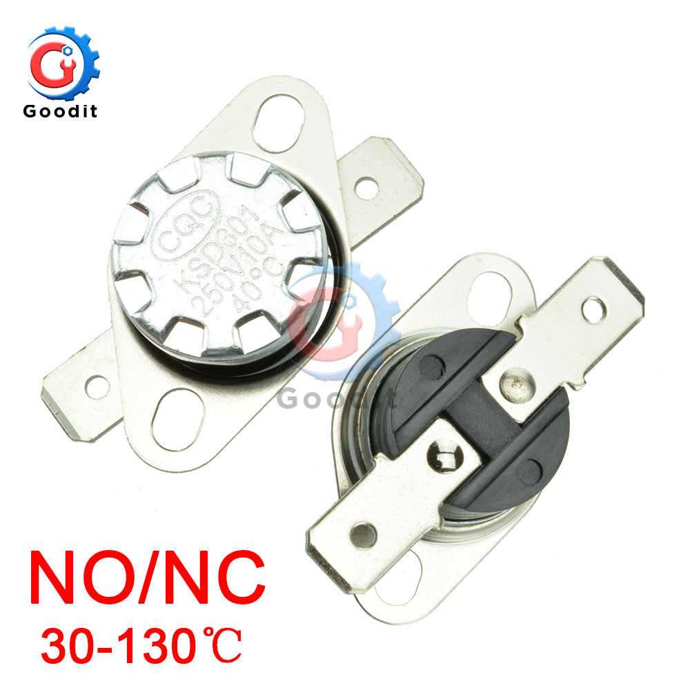 KSD301 250V 10A Normally Open/Normally Close NO Thermostat Temperature Thermal Control Switch DegC 30-130 Celsius Degree