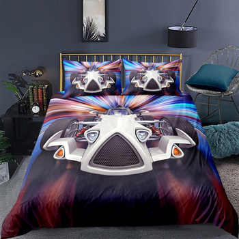Racing Car Bedding Set King Size High End Cool 3D Duvet Cover For Boys Queen Twin Full Single Double Unique Design Bed Set