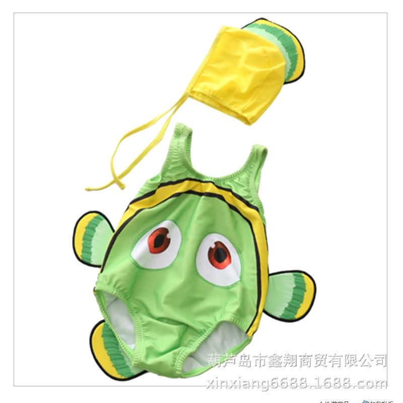 New Style KID'S Swimwear Female Baby Male Baby One-piece Swimwear Clownfish Infants Johnson Hot Sales
