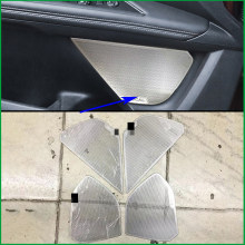 For Peugeot 3008 3008GT 5008 5008 GT 2017-2019 Interior Stainless Steel Door Speaker Sound Ring Cover Sticker Trim Car Styling(China)