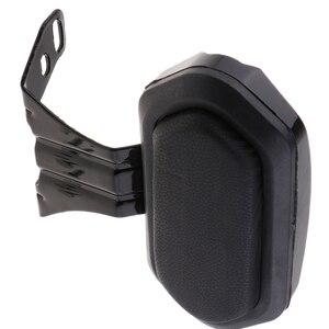 Universal Motorcycle Adjustable Rear Backrest Sissy Bar Cushion Pad - Black