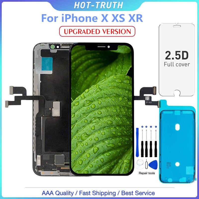 1 pc versão atualizada nova qualidade oled tela lcd para o iphone x xs xr 10 5.8