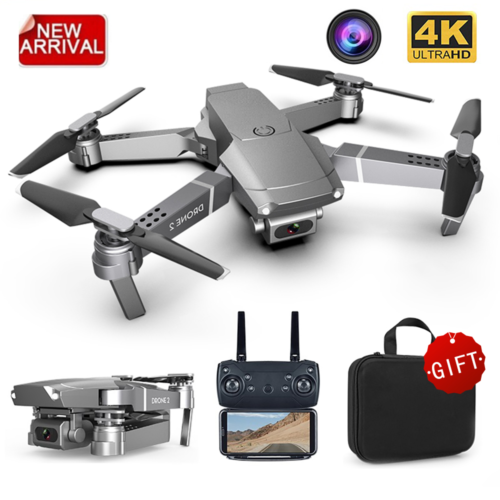 Nuevo Mini Drone E68, gran angular Ultra HD 4K 1080P cámara con WIFI FPV, RC modo portátil plegable Quadrotor regalo niños juguete HGIYI G11 GPS RC Drone 4K HD Cámara Quadcopter flujo óptico WIFI FPV con 50 veces Zoom plegable helicóptero Drones profesionales