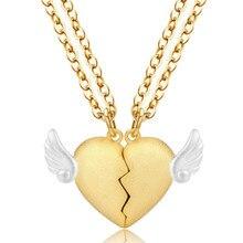 925 Серебряное золотое ожерелье, модные новые ювелирные подвески в форме сердца, ожерелье для женщин, девушек, пар, подарки, опт, Ketting Collier Colar