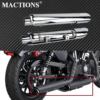 Motorcycle Chrome Slip-On Mufflers Exhaust Pipes W/ Heat Shield For Harley Sportster 883 1200 XL 72 48 Iron Models 2014-19 2020