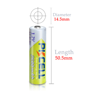 Image 5 - 8Pcs PKCELL  2300 to 2600mah Battery NIMH AA Rechargeable Batterys aa 1.2v and 2pcs Boxes Case