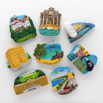 Thailand tourist magnet refrigerator 3d magnets Italy fridge magnets Paris Austria Singapore France nice Romania home decor gift 1