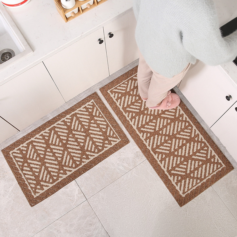 nettoyer chaussure frotter tapis de porte d entree antiderapant tapis de cuisine absorbant chambre chevet tapis de sol simple geometrique tapis