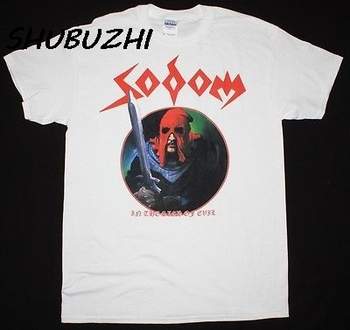 Sodoma en la señal de mal THRASH KREATOR veneno HELLHAMMER hombres camiseta nueva llegada de algodón para hombre 100% camisetas y tops