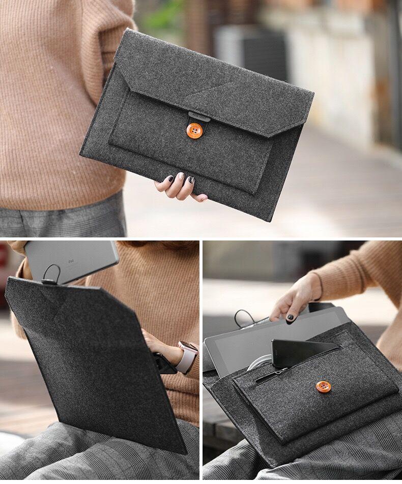 11 12 13 15 Fashion Wool Felt Laptop Sleeve Bag Notebook Handbag Case For Macbook Air Pro Retina Lenovo Asus HP Laptop Liner Bag (20)