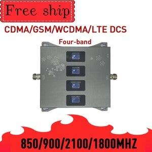 Image 2 - חם! 850 900 1800 2100mhz מאיץ טלפון נייד ארבעה Band GSM נייד אותות בוסטרים 2G 3G 4G LTE נייד מהדר GSM DCS WCDMA
