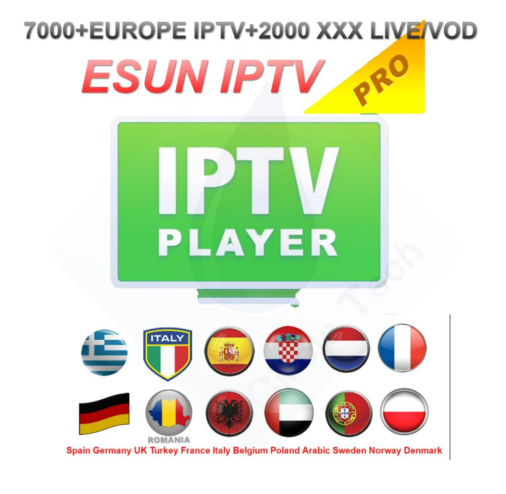Europe IPTV 9000 Live/vod And 2000 Adult Xxx Live/vod Portuguese Italy Germany France Spain Netherlands Germany M3U Android IPTV