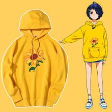 Anime hoodie oversized pulôver amarelo camisola das senhoras roupas roupas masculinas roupas de casal anime tripulação pescoço hoodie