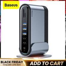 Baseus 17 in 1 USB C HUB Tipo C a HDMI RJ45 VGA USB 3.0 PD Adattatore di Alimentazione Docking stazione di per MacBook Pro Laptop USB C Hub
