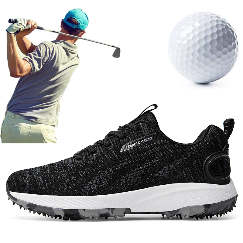 2020 New Brand Men Golf Sneakers White Black Outdoor Summer Breathable Golf Shoes for Men Light Weight Athletic Sneakers 1